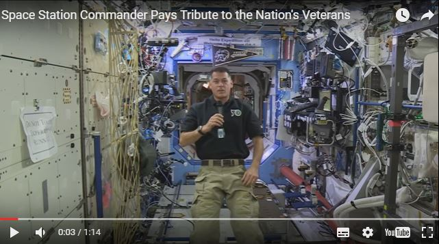NASA / Space Station Commander Pays Tribute to the Nation's Veterans