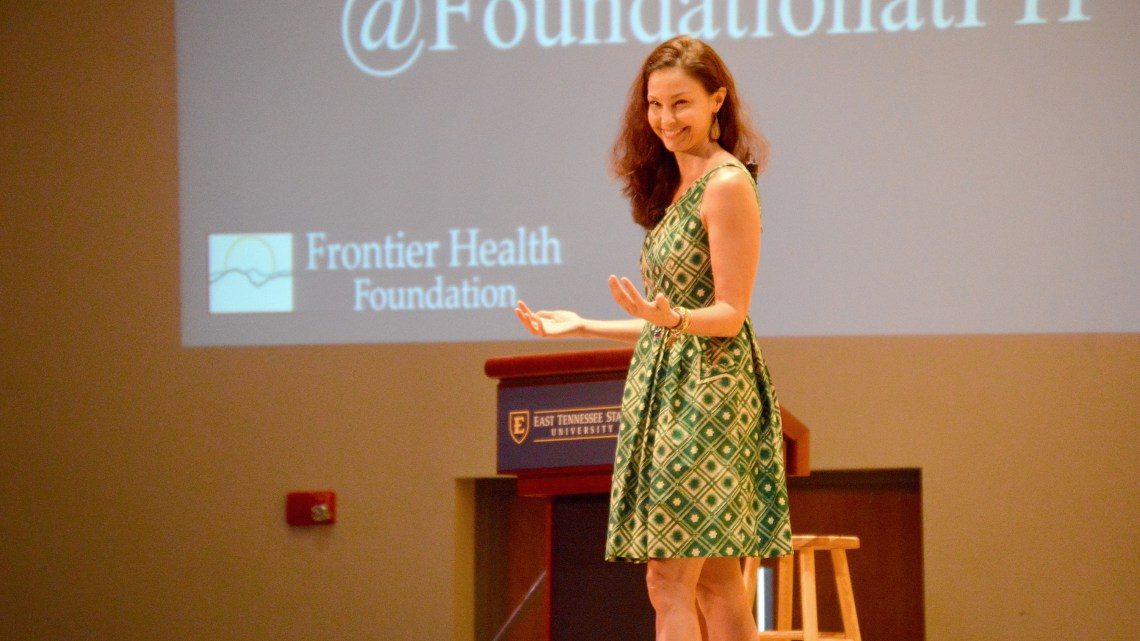 et online / actress Ashley Judd delivers lecture at ETSU