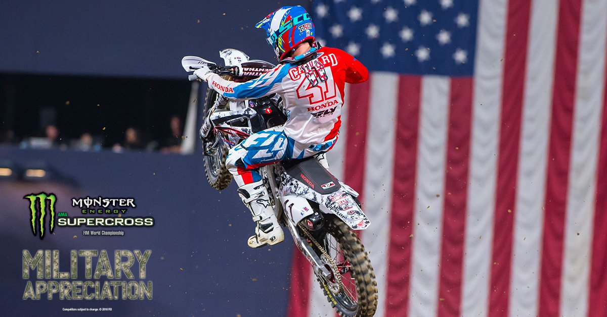supercrosslive / San Diego SX To Host Fourth Annual Military Appreciation Race – video