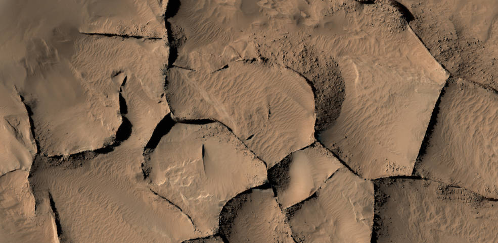 NASA / Similar-Looking Ridges on Mars Have Diverse Origins