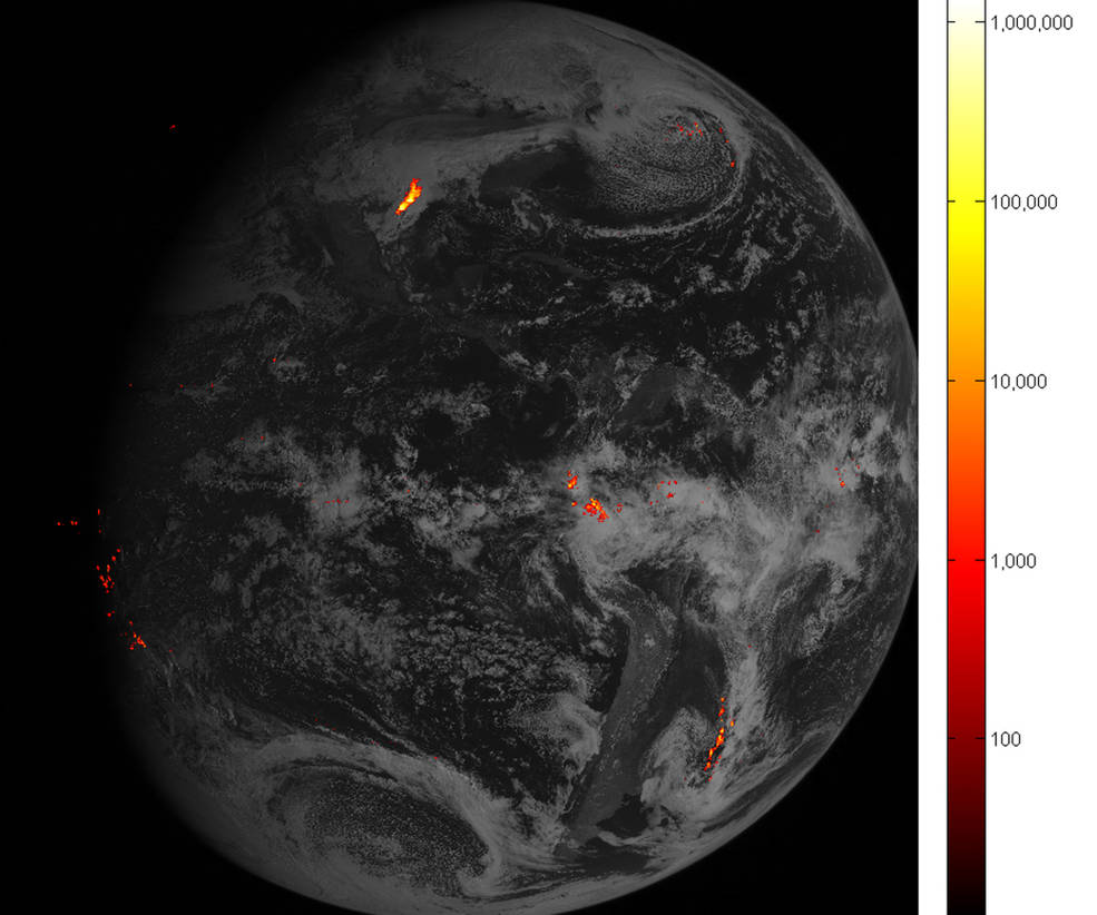 NASA / Flashy First Images Arrive From NOAA's GOES-16 Lightning Mapper